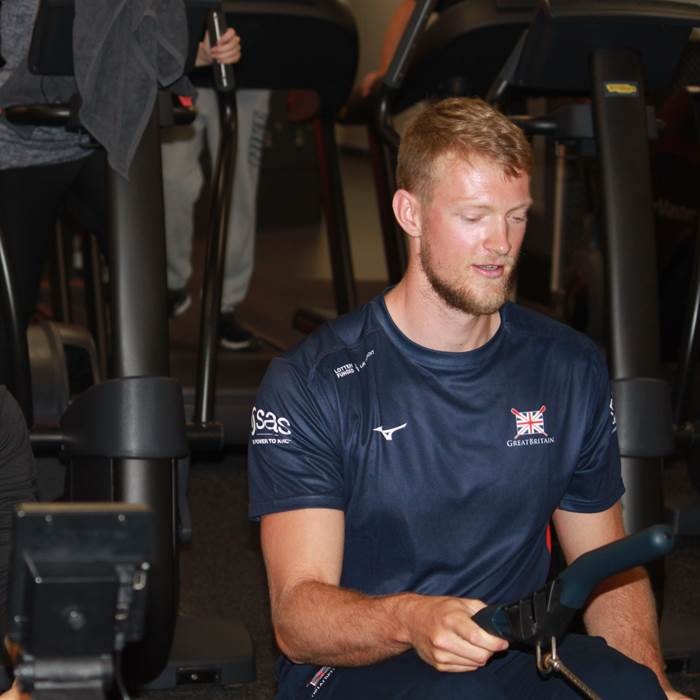 Our indoor rowing challenge with GB rower Cameron Buchan